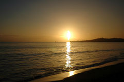 Sonnenuntergang in Santa Barbara lizenzfreie stockfotos