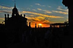Sonnenuntergang Santiago de Compostela stockbild