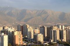 Sonnenuntergang in Santiago lizenzfreie stockfotografie