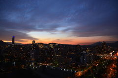 Sonnenuntergang in Santiago-Paprika Lizenzfreies Stockfoto