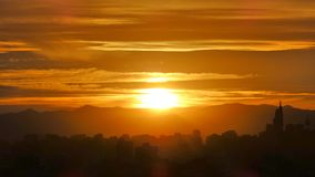 Sonnenuntergang in Santiago-Paprika Lizenzfreies Stockbild