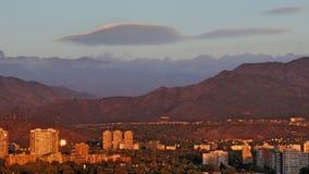 Sonnenuntergang in Santiago-Paprika Stockbild
