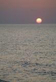 Sonnenuntergang in Sardinien stockfoto