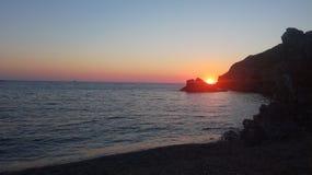 Sonnenuntergang in Sardinien Lizenzfreie Stockbilder