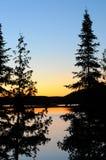 Sonnenuntergang-Schattenbild lizenzfreies stockfoto