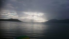 Sonnenuntergang in Schottland lizenzfreie stockbilder