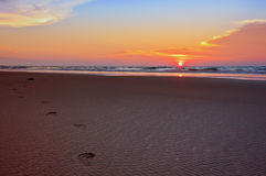 Sonnenuntergang-Schritte Stockfoto