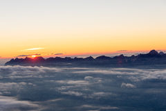Sonnenuntergang an Schutzde Tete Rouse Lizenzfreie Stockfotografie