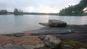 Sonnenuntergang in Schweden Lizenzfreie Stockfotos
