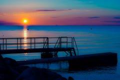 Sonnenuntergang in Schweden Lizenzfreies Stockbild