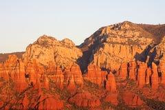Sonnenuntergang in Sedona Arizona stockfotografie