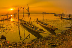 Sonnenuntergang in See Stockfoto