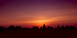 Sonnenuntergang an See Abbe stockbilder