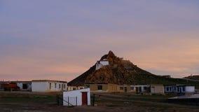 Sonnenuntergang am See Manasarovar Stockbilder