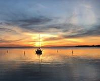 Sonnenuntergang-Segel Stockbild