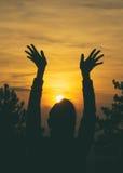 Sonnenuntergang-Segen Stockfotos
