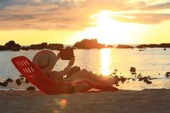 Sonnenuntergang Selfie Lizenzfreies Stockfoto