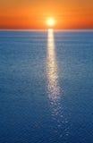 Sonnenuntergang in Sibirien Stockfotografie