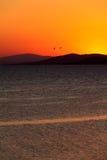 Sonnenuntergang in Sithonia, Chalkidiki Lizenzfreies Stockfoto