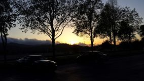 Sonnenuntergang-Sitzung Stockbild
