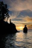 Sonnenuntergang am Siwash Felsen Stockbilder