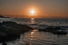 Sonnenuntergang in Sizilien Lizenzfreie Stockbilder