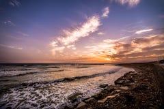 Sonnenuntergang in Sizilien Lizenzfreies Stockfoto