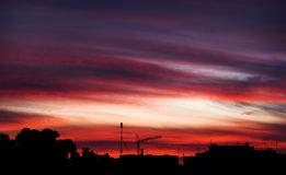 Sonnenuntergang-Skyline Stockfotografie