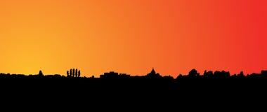 Sonnenuntergang-Skyline Stockfoto