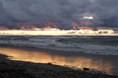Sonnenuntergang in Southampton, Ontario Stockfoto