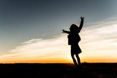 Sonnenuntergang-Spaß stockbilder