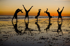 Sonnenuntergang-Spaß Stockfoto