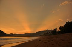 Sonnenuntergang-Spray Lizenzfreie Stockfotografie