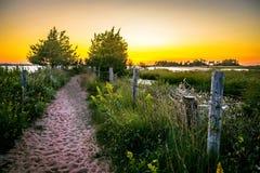 Sonnenuntergang-Spur SandyHook Lizenzfreie Stockfotos