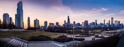 Sonnenuntergang-Stadt Stockfotos