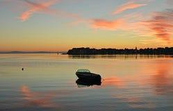 Sonnenuntergang StobreÄ- Kroatien Stockfoto