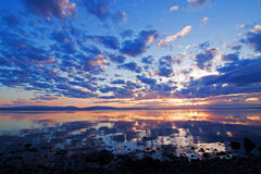 Sonnenuntergang Storsjön Stockfotos