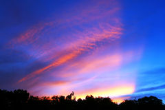 Sonnenuntergang-Strahlen Lizenzfreies Stockbild