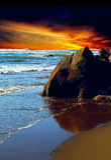 Sonnenuntergang-Strand Lizenzfreies Stockfoto