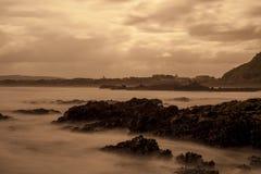 Sonnenuntergang-Strand Stockbilder