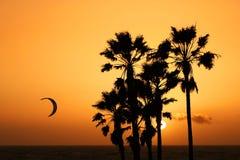 Sonnenuntergang-Strand Stockfoto