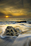 Sonnenuntergang am Strand Lizenzfreies Stockfoto