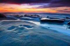 Sonnenuntergang-Strand Stockbild
