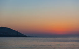 Sonnenuntergang am Strand Stockfotografie