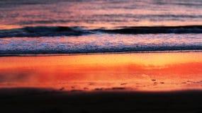 Sonnenuntergang-Strand Santa Barbara, Kalifornien Stockfotografie