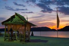 Sonnenuntergang-Strand-Sausen Stockbild