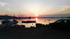 Sonnenuntergang. Sunset in Izola Royalty Free Stock Images