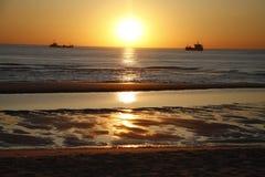 Sonnenuntergang Sylt Lizenzfreie Stockfotos
