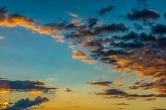 Sonnenuntergang in Tahiti zum Französisch-Polynesien lizenzfreies stockfoto