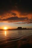 Sonnenuntergang am Tauranga-Schacht lizenzfreie stockfotos